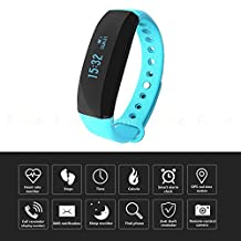 Fitness Tracker, ITOY&IGAME V2 0.88 inch OLED Screen Bluetooth 4.0 Smart Wristband Fitness Tracker Heart Rate Monitor IP65 Waterproof Smart Bracelet Pedometer Bracelet for Android IOS Smartphone