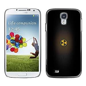 X-ray Impreso colorido protector duro espalda Funda piel de Shell para SAMSUNG Galaxy S4 IV / i9500 / i9515 / i9505G / SGH-i337 - Warning Black Minimalistic Sign