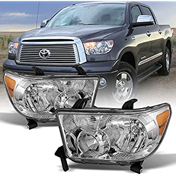 acanii - for 2007-2013 toyota tundra 2008-2017 sequoia headlights  aftermarket driver + passenger side