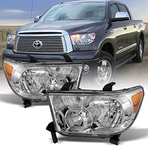 13 Toyota Tundra 2008-2017 Sequoia Headlights Aftermarket Driver + Passenger Side ()
