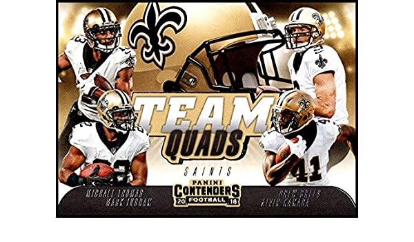 091aa5d9e Amazon.com  2018 Panini Contenders Team Quads  TQ-5 Alvin Kamara Drew Brees  Mark Ingram II Michael Thomas NM-MT New Orleans Saints  Collectibles   Fine  Art