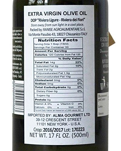 Ligurian Italian Extra Virgin Olive Oil DOP 16.9 fl oz - Pack of 2 by Ranise (Image #2)