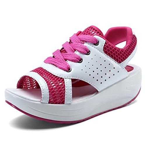 bf11fa5176e4 MZG Sommer Neue Sport Freizeit Damenschuhe Mesh Sandalen Thick Bottom  Breathable Schütteln Netz Schuhe Weibliche Sandalen