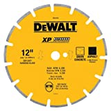 DEWALT DW4745 XP 12-Inch Dry Cutting Diamond Segmented Saw Blade with 1-Inch Arbor for Ashphalt and Green Concrete