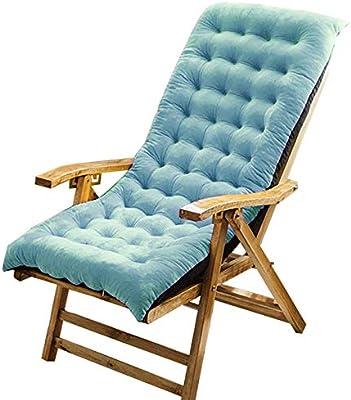 SKRCOOL No-resbalón Cojines para Tumbona,Espalda Alta Cojin Tumbona Jardin,Impermeable Cojines para Tumbona Cojín De Silla Larga para para Las Vacaciones De Viaje(sin Silla) Azul 100x40cm: Amazon.es: Hogar