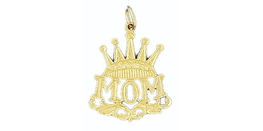 14k Yellow Gold Mom Pendant