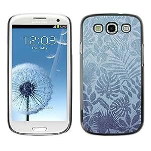 X-ray Impreso colorido protector duro espalda Funda piel de Shell para SAMSUNG Galaxy S3 III / i9300 / i747 - Nature Leaves Tropical Wallpaper