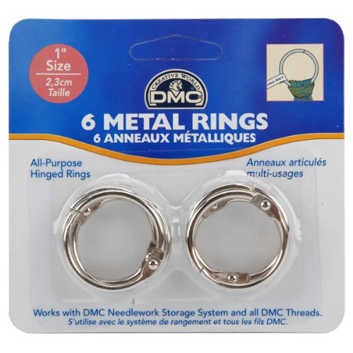 DMC U1548 Metal Craft Ring, 1-Inch, 6-Pack