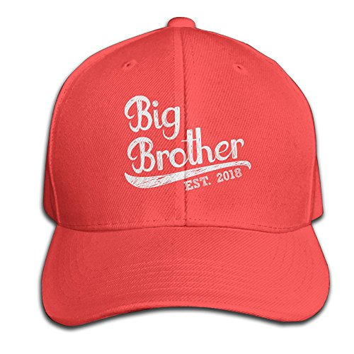 Jjwokaaya Custom New Design Adult Big Brother Baseball Visor Cap Red