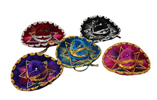 Charro Sombrero (Oro Import 12 Mini Mexican Charro Hats Mariachi Sombreros Party Favors Decorations Set)