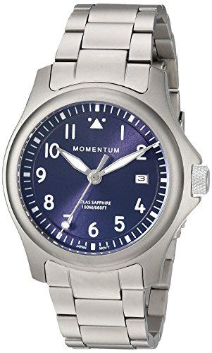 Momentum Men's Atlas 38 Quartz Watch with Titanium Strap, Silver, 19 (Model: 1M-SP00US0