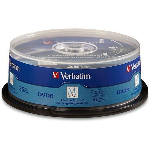 Verbatim 98908 M Disc DVD-R 4.7GB 4X with Branded Surface -