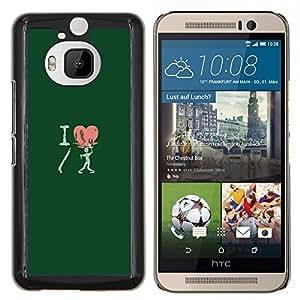 Caucho caso de Shell duro de la cubierta de accesorios de protección BY RAYDREAMMM - HTC One M9Plus M9+ M9 Plus - Amo Shotgun Zombie divertido