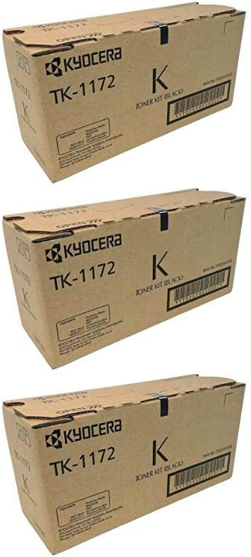 1T02S50USO TK1172 OEM Kyocera Toner Cartridge 3 Pack Black 7200 Page-Yield Per Ctg
