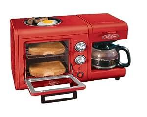 Nostalgia Electrics BSET100CR 3 in 1 Breakfast Station