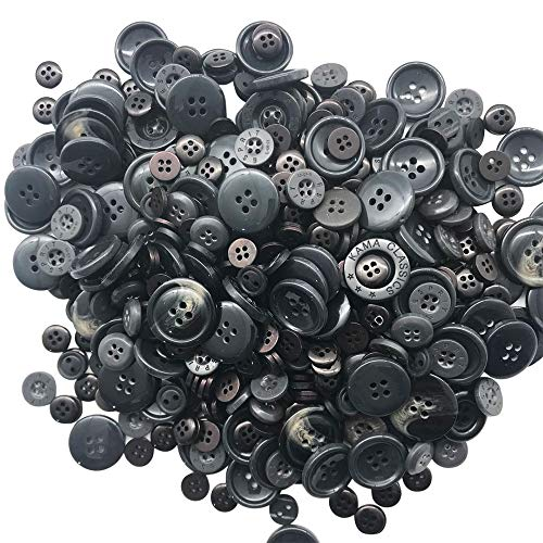 1000 black buttons - 6
