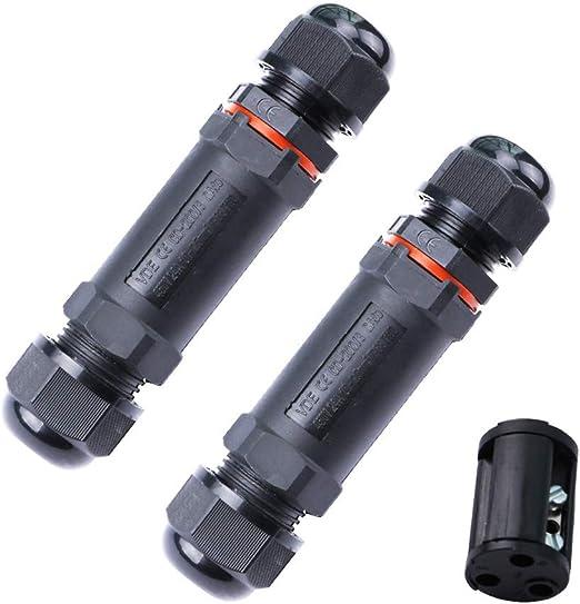 3 p/ôles ASEL 2pcs Bo/îte de jonction IP68 Connecteur de c/âble /étanche /à lext/érieur Connecteur de gaine externe /Ø 5mm-10mm
