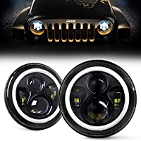 LED Headlight, YEEGO Harley Davidson Motorcycle Projector LED Light Bulb + Mounting Bracket+Wire Harness