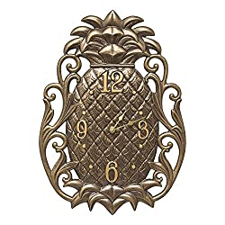 Whitehall Products Pineapple Scroll Indoor/Outdoor Wall Clock