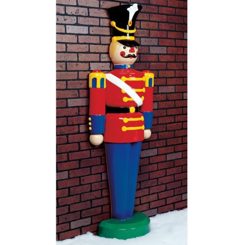 6.3 ft. - Half Toy Soldier - Life Size - Fiberglass - Christmas Decoration (Christmas Toy Soldier)