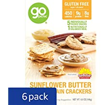 GoPicnic Ready-to-Eat Meals Sunflower Butter & Multigrain Crackers, 6 oz boxes (Pack of 6)