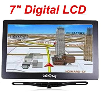 Image of 4UCam 7-inch LCD Touch Screen GPS with Wireless Backup license Camera and Bluetooth System Vehicle Backup Cameras
