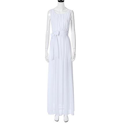 ❤️Faldas, Challeng Vestido de embarazada, Vestido sin mangas de gran tamaño para mujeres