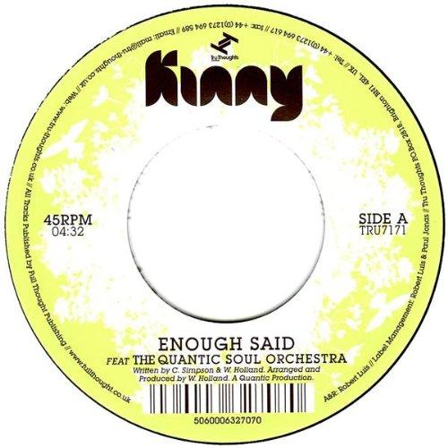Enough Said (feat. The Quantic...