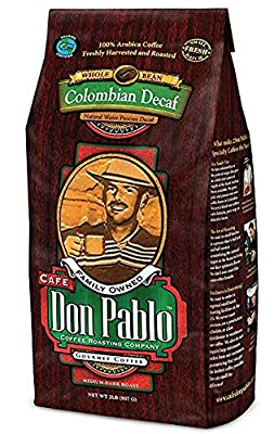 2LB Cafe Don Pablo Decaf Swiss Water Process Colombian Gourmet Coffee Decaffeinated - Medium-Dark Roast - Whole Bean Coffee from Cafe Don Pablo