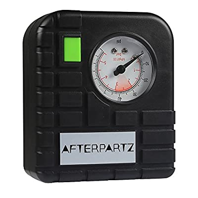 AFTERPARTZ JX01 12V Portable Tire Inflator Air Compressor for Jump Starters