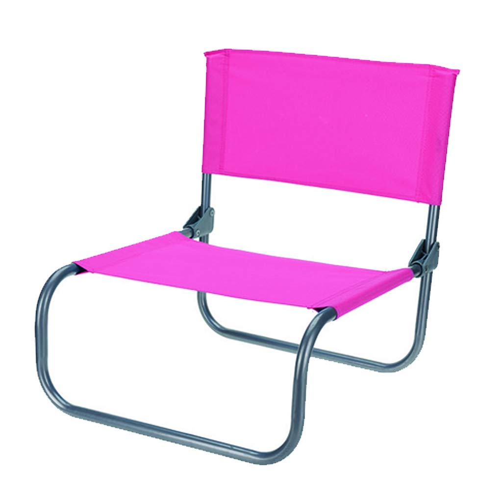 Guaranteed4Less Beach Garden Chair Low Folding Lightweight Fishing Camping Outdoor Festival Seat (1, Pink)