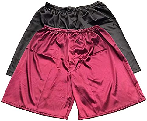 Tony /& Candice Mens Satin Boxers Shorts Combo Pack Underwear