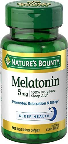 Nature's Bounty Melatonin 5mg, 90 Softgels (Pack of 3)