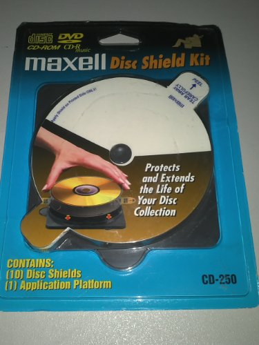Maxell CD & DVD Disc Shield Kit w/Application Platform CD-25