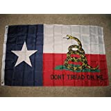 Texas Poly Flag 3X5 3Ftx5Ft Don'T Tread On Me Tea Party Rattlesnake by Unknown