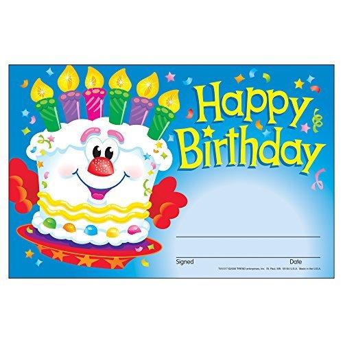 1 X Happy Birthday-Cake Recognition Awards by Trend Enterprises Inc (Happy Birthdaycake)