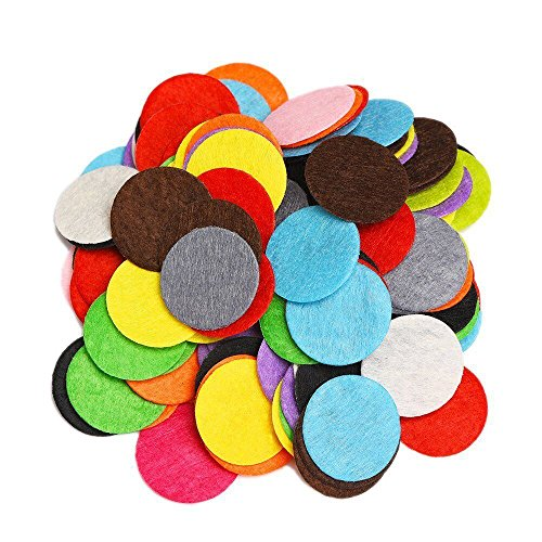 eBoot 120 Pieces Mixed Color Assortment Round Felt Circles, 1 Inch
