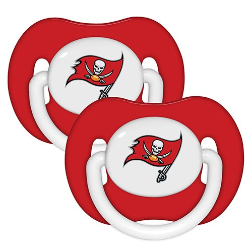 (Baby Fanatic 1740702243 Tampa Bay Buccaneers Pacifier - Pack of 2)