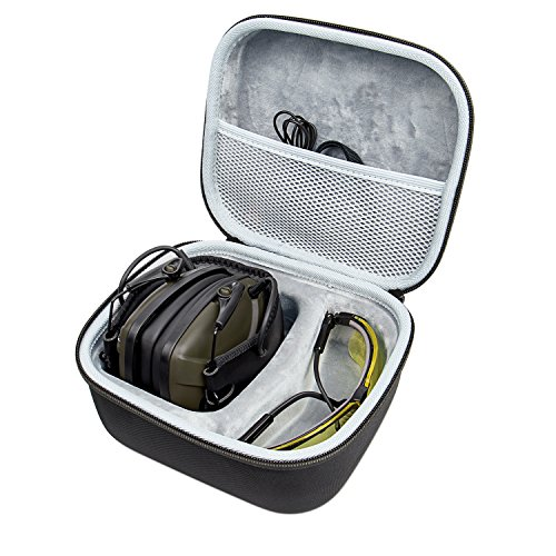 Awesafe Ear Protection for Shooting Range, Electronic Hearing Protection for Impact Sport [Comes with Hard Travel Storage Carrying Case Bag], Safety Ear Muffs, NRR 22, Ideal for Shooters and Hunti