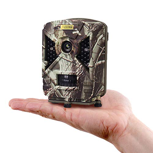 ARTITAN Ready To Use Trail Camera,12MP No Set Up Requirement Mini Hunting Cam Motion Activated Night Vision No Glow IR LED IP65 Waterproof Cam for Wildlife Scounting Home Security Outdoor Surveillance