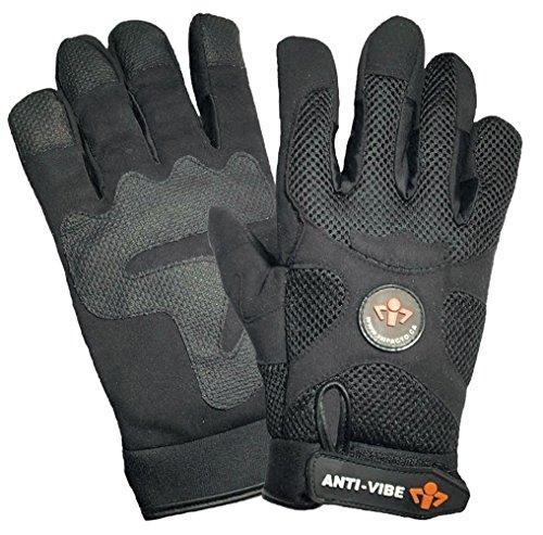 Anti Vibration Air Glove - Impacto BG40850 Anti-Vibration Mechanic's Air Glove, Black