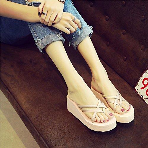 infradito da pantofole pendenza piedi donna e spessore XIAOGEGE fondo Pink gSFwB