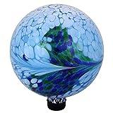 "Northlight 10"" Blue, White and Green Swirl Designed Outdoor Patio Garden Gazing Ball"