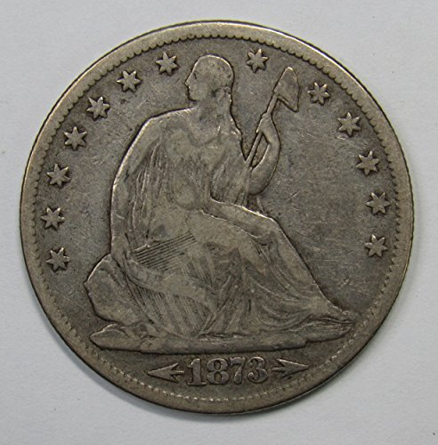 1873 P Seated Liberty Half Dollar w/ Arrows 50c Fine