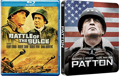 Patton Exclusive Steelbook Blu Ray War Hero Collection + Battle of the Bulge Blu Ray