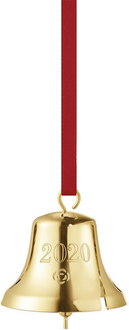 Georg Jensen Christmas Annual Christmas Bell in Palladium Brass by Sanne Lund Traberg Gold