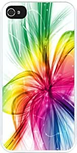 Rikki KnightTM Neon Rainbow Shades Design iPhone 4 & 4s Case Cover (White Rubber with bumper protection) for Apple iPhone 4 & 4s