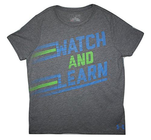Under Armour Girls Charged Cotton Loose Fit Watch and Learn T-Shirt