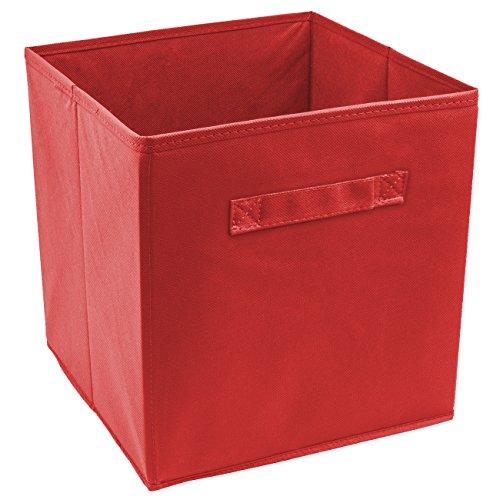 Sorbus® Foldable Storage Cube Basket Bin (1 Pack, Red)