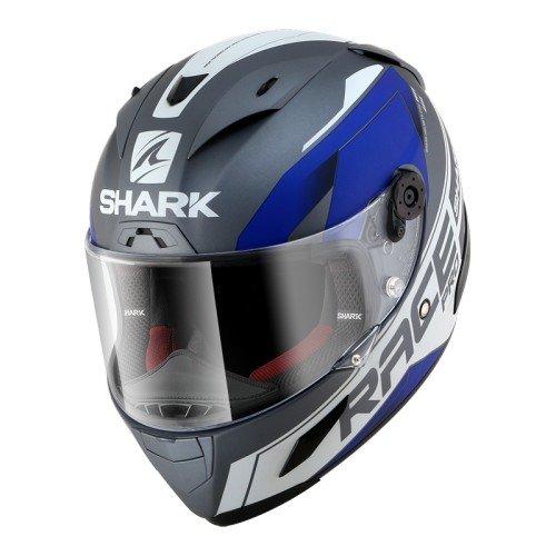 Shark Casco de moto RACE-R Pro SAUER Mat AKY L gris//negro//fluorescente